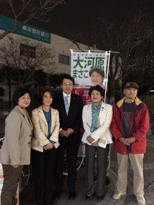 齊藤あつし都議、緑の党橋本久雄市議も駆けつけてくれました。
